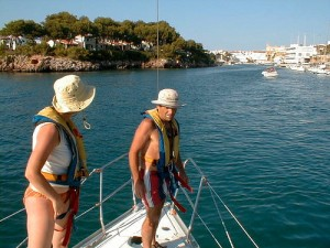 Sailing off the Menorcan coast, this too could be you on your next holiday!